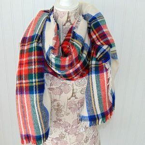 Blanket Scarf Old Navy 1970s Plaid Brand new 41x81
